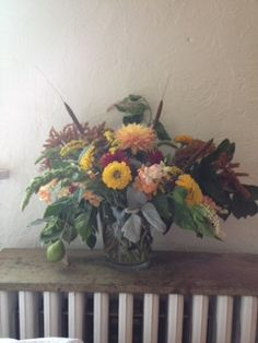 Summer birthday arrangement all local! With flowers from Goose Creek Gardens and foraged pears by Gold Dust Floral