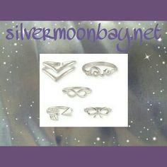 Midi rings www.silvermoonbay.net