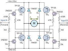 H-Bridge Circuit - bidirectional motor control circuit
