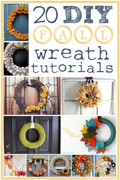 20 DIY Fall Wreath Tutorials from InspiredRD.com #crafting #diy - who wants to have a wreath making party @lexilooo @Sarah Francisco