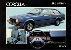1980 Toyota Corolla Lift-back. I seem to recall this model being known as the (also the name of one of Toyota's small engines). It wasn't a popular car by any stretch, but worthy of a mention all the same. Toyota Corolla, Toyota Celica, Corolla Hatchback, Corolla Ke70, Chrysler Airflow, Car Brochure, Toyota Cars, Toyota Usa, Mini Trucks