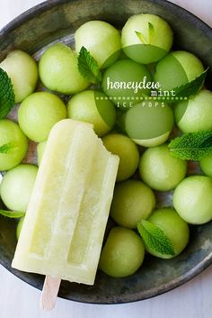 Nothing dangerous in these summertime treats! Honeydew Mint Ice Pops by cindyrahe, via Flickr