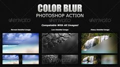 Color Blur Photoshop Action Add-On ... <p>Color Blur is a Photoshop Action that will add a strong stylish blur to any image. This is a new trend coming about across the board in design. It adds detail to your layouts or interfaces, while allowing text to maintain a high legibility.</p> action, add-on, color blur, photoshop, stylish