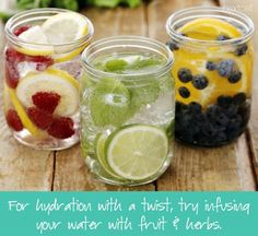 For hydration with a twist, try infusing your #water with #fruit & herbs. You won't want to put your glass down! #healthyliving  Nextcell Medical - Google+