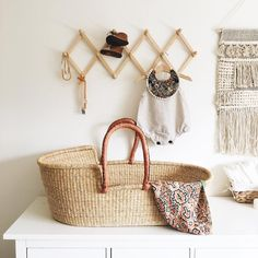 Modern boho baby room inspiration. This IG account has the cutest handmade baby things!