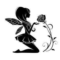 Borneo tattoos fairy tattoo designs silhouette, fairy tattoo designs sketches, f Fairy Silhouette, Silhouette Tattoos, Silhouette Painting, Gothic Fairy Tattoo, Fairy Drawings, Fairy Tattoo Designs, Fairy Jars, Fairy Crafts, Fairy Pictures