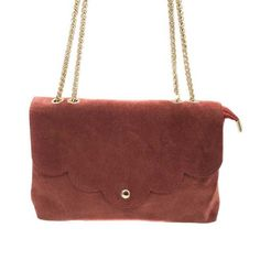 Sac Léonie - Vieux Rose en cuir 39,00 € - Chez HOWNE Shoulder Bag, Green Leather, Purse, Fallow Deer, Objects, Shoulder Bags