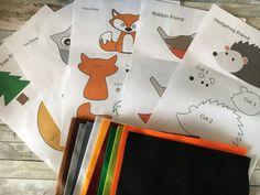 Felt Patterns Free, Felt Animal Patterns, Felt Crafts Patterns, Stuffed Animal Patterns, Stuffed Animals, Easy Patterns, Fabric Crafts, Animal Templates, Felt Templates