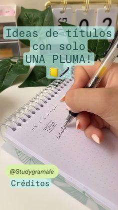 Bullet Journal Work, Bullet Journal Lettering Ideas, Life Hacks For School, School Study Tips, Pretty Notes, Cute Notes, Hand Lettering Tutorial, Alphabet, School Organization