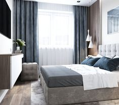Enhance Your Senses With Luxury Home Decor Modern Bedroom Design, Home Room Design, Master Bedroom Design, Contemporary Bedroom, Apartment Interior, Home Decor Bedroom, Home Living Room, Interior Design Living Room, Bedroom Layouts