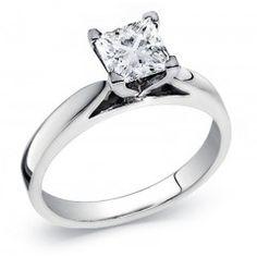 Princess Cut Diamond Solitaire Ring 0.40 Carat