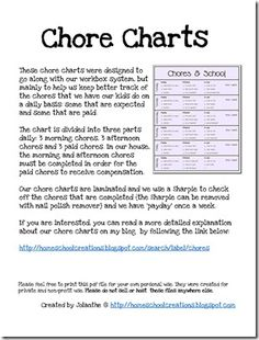I LOVE PRINTABLES! Yes, i'm lame!! Chore Charts for Kids Printables - Blank Chore Charts