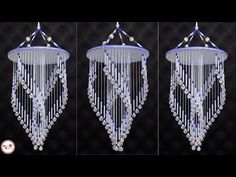 Amazing Pearl Wind Chime Making Door Hanging Decorations, Wall Hanging Crafts, Hanging Flower Wall, Mobiles, Jhumar, Rangoli Border Designs, Pearl Chandelier, Diy Wind Chimes, Rope Crafts