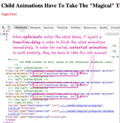"Child Animations Need The ""Magical"" Transition-Delay Into Account In #AngularJS http://www.bennadel.com/blog/2909-child-animations-have-to-take-the-magical-transition-delay-into-account-in-angularjs.htm?utm_content=buffer10eb7&utm_medium=social&utm_source=pinterest.com&utm_campaign=buffer via Ben Nadel"