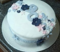 90 Year Old Birthday Cake Lilac Pink Flower Baking Ideas Flowers