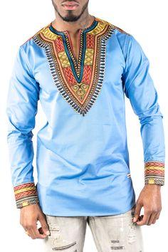 Fashion shirt very classy African Attire, African Wear, African Dress, African Tops, African Shirts, African Men Fashion, Ethnic Fashion, African Print Shirt, Mens Fashion Wear