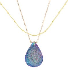 Look at this Fleur Envy Gold & Titanium Druzy Two-Tier Pendant Necklace on #zulily today!