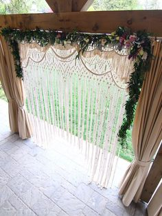 Lydia Bohemian macrame wedding arch / Wedding backdrop /