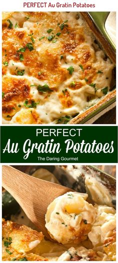 Look no further for the BEST au gratin potatoes recipe! I Love Food, Good Food, Yummy Food, Delicious Desserts, Best Au Gratin Potato Recipe, Easy Potato Au Gratin, Recipe For Augratin Potatoes, Au Gratin Sauce Recipe, Potatoes Au Gratin Gruyere