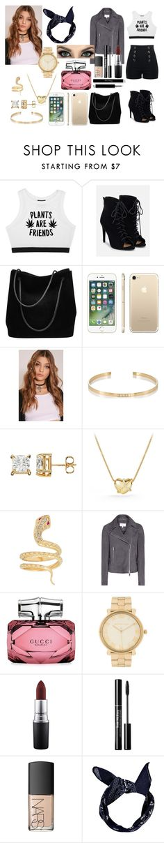 """Sem título #215"" by veronica-henrique ❤ liked on Polyvore featuring Minga, JustFab, Gucci, Ileana Makri, David Yurman, Michael Kors, MAC Cosmetics, NARS Cosmetics and Boohoo"