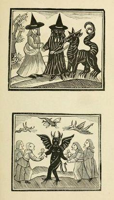 libros sobre brujas grabado