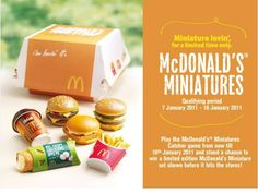 Mc Donald's cute tiny food edible | Cute little miniatures Wonderful Things, My Favorite Things, Tiny Food, Mini Things, I Want To Eat, Miniture Things, Miniature Food, Mcdonalds, Food Inspiration