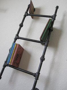 Industrial Plumbing Pipe Bookshelf  Three by vintagepipedreams, $109.00