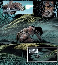 Quinlan Vos using his Darkside skill to Tam beasts which he learned from Asajj Ventress and Dooku in Dark Disciple shown in Star Wars: Republic #83