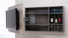 Mueble Panel Tv Lcd - Led + Soporte Girat. + Rack Oculto. - $ 5.250,00