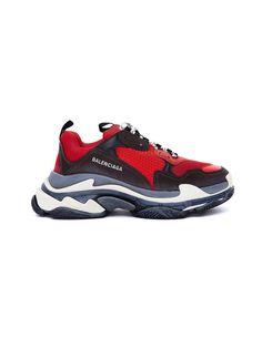 1715b23cd BALENCIAGA BALENCIAGA RED   BLACK TRIPLE S SNEAKERS.  balenciaga  shoes