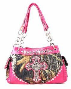 Pink Camo Cross Handbag (D)