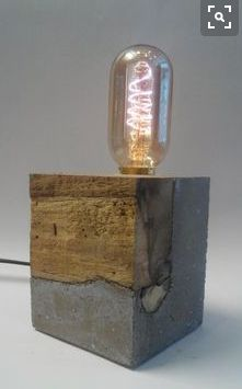 Reasons to Buy Gorgeous Lamp Designs for a New Home Holzreste verwerten Mehr The post Reasons to Buy Gorgeous Lamp Designs for a New Home appeared first on Lampe ideen. Concrete Furniture, Concrete Lamp, Mix Concrete, Log Furniture, Beton Design, Concrete Design, Concrete Crafts, Concrete Projects, Diy Luz