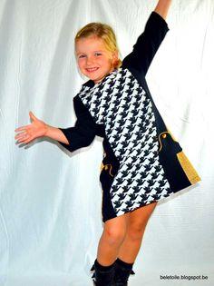 Een Louisa-hack, Nog eentje dan :-). Ik wilde ook iets doen met de Louisa jurk, een jurk die Sterre zo mooi staat dat ze er verschillende in de kast heeft hangen. Aa... #contest2015 #Louisadress #patternhack
