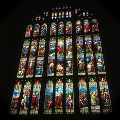 stained glass window at Gloucester Cathedral