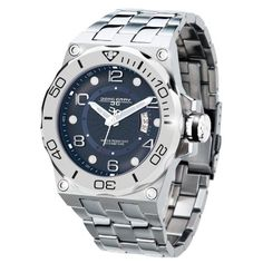 Men's Wrist Watches - Jorg Gray JG960014 Stainless Steel w Blue Swiss Mens Watch *** Check out this great product.