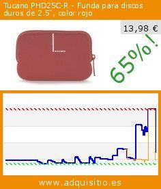 """Tucano PHD25C-R - Funda para discos duros de 2.5"""", color rojo (Ordenadores personales). Baja 65%! Precio actual 13,98 €, el precio anterior fue de 40,52 €. http://www.adquisitio.es/tucano/phd25c-r-funda-discos"""