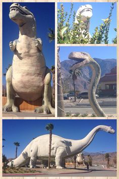 Towering 30 feet above the I-10 heading south to Palm Springs, Calif., a T. Rex and an Apatosaurus are part of the World's Biggest Dinosaurs museum in Cabazon.