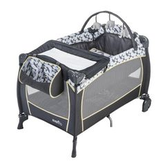 Evenflo Portable BabySuite Playard Changer Bassinet Playmat Toys Raleigh for sale online Play Yard, Wishes For Baby, Playpen, Babies R Us, Baby Needs, Baby Online, Baby Essentials, Online Furniture, Bassinet