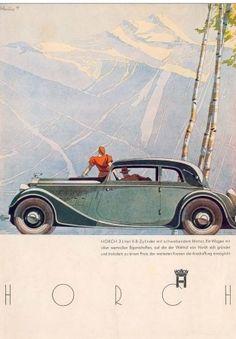 Horch 830 - Alpenpanorama: Advertising Art by Bernd Reuters