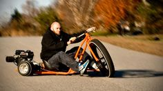 Motorized Big Wheel Drift Trike: 6.5HP And Massive 26-inch Wheel. Need We Say More? - MIKESHOUTS.