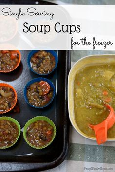 Food waste can really keep your grocery budget high. Preserving leftovers is a great way to keep food waste down, and in turn your grocery budget lower. Recently I had too much leftover soup, so I made these single serving soup cups. It's a great way to freeze leftover soup in single serving for a quick lunch.