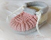 Knitting Pattern (PDF) - Baby Boy Booties - Pattern number 09. $1.90, via Etsy.