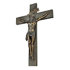Design Toscano Crucifixion Cross of Jesus Christ Wall Sculpture in Faux Verdigris Bronze >>> Find out more about the great product at the affiliate link Amazon.com on image.