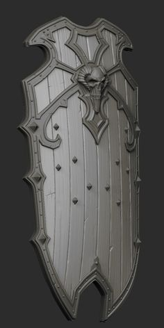 Skull Shield HiPoly by CDB-ART                                                                                                                                                                                 Mais