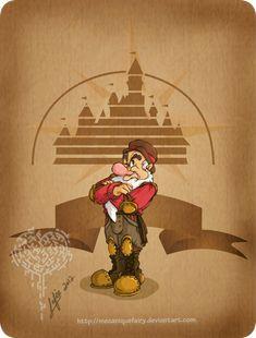 Disney steampunk: Grumpy by MecaniqueFairy.deviantart.com on @deviantART