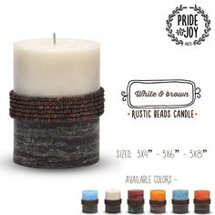 The rustic surface finish of these candles makes them a suitable compliment for many decors. Shop at: http://bit.ly/1HSyRHh  #Candles #HomeDecor #Flipkart #Amazon #Snapdeal #Zansaar #Shopclues #PayTm #Limeroad #Shopping #India #DecorativeCandles #DriplessCandles
