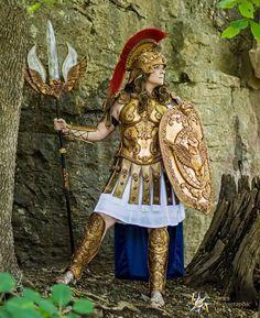 Athena Goddess of Oogoo – Organic Armor Greek Mythology Costumes, Greek Goddess Costume, Greek And Roman Mythology, Athena Costume, Medusa Costume, Athena Greek Goddess, Anastasia, Halloween, Greek Warrior