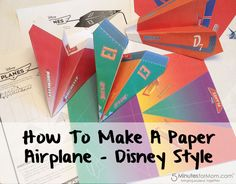 You do not want to miss out on these free printables from Disney. Teach your kids how to make paper airplanes and use these free printables to make them look like some of their favorite characters from the film!