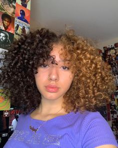 Dyed Curly Hair, Colored Curly Hair, Dyed Natural Hair, Curly Hair Tips, Curly Hair Styles, Best Hair Dye, Dye My Hair, Hair Color Streaks, Hair Dye Colors