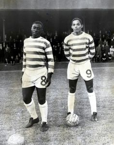 Brazilians Ayrton Inacio and Marco Di Sousa appear in their first game for Celtic. (1965)
